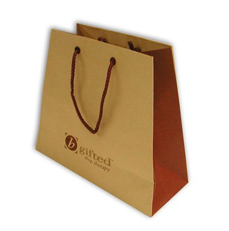 Shopping bag carta a trapezio