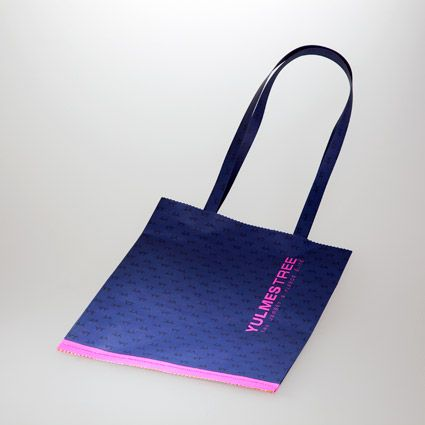 Shopper in carta cemento con stampa serigrafica