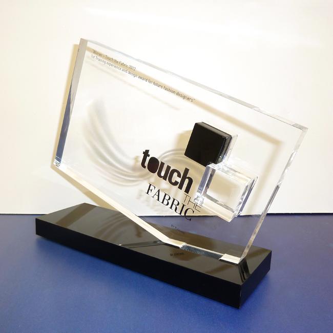 Targa premio in plexiglas bicolore targhe premio - Targhe porta plexiglass ...