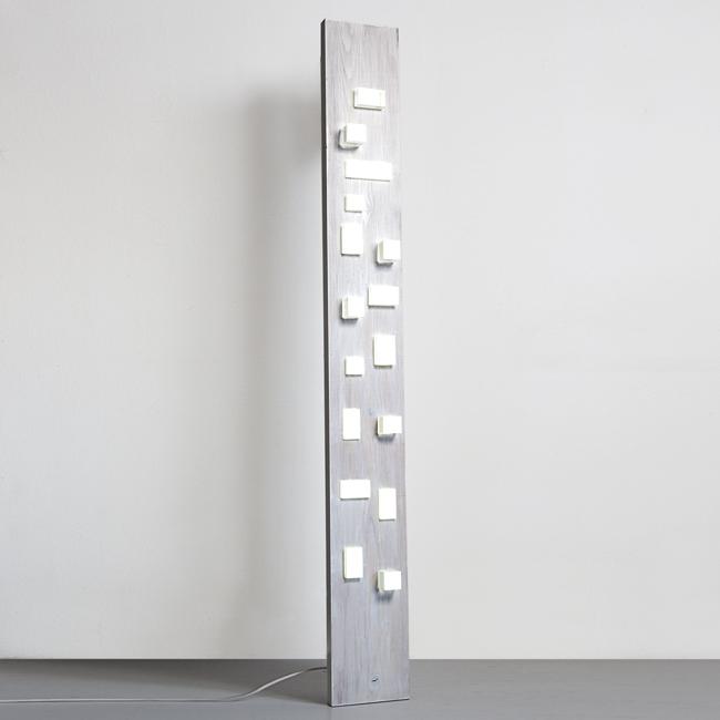 Lampada di design in legno e plexiglas, Oggettistica in plexiglas