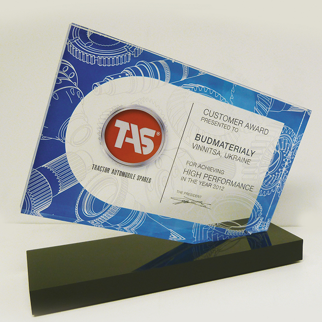 Targa in plexiglass