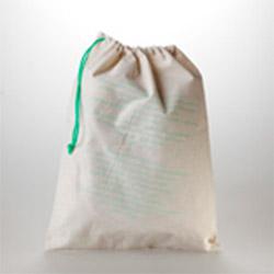 6c7c9d4f95 Sacca in tela di cotone ecrù con laccio colorato